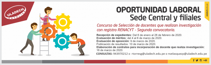 Oportunidad Laboral Sede Central y Filiales